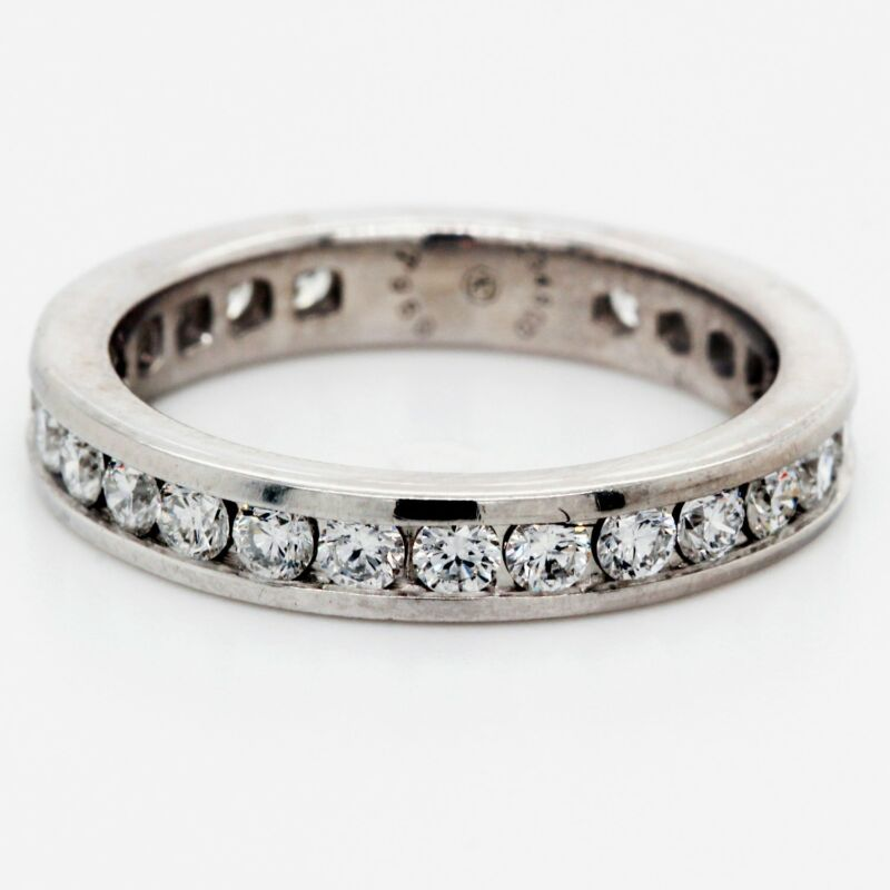 Stackable Platinum Diamond Eternity Band 1.05 Tcw