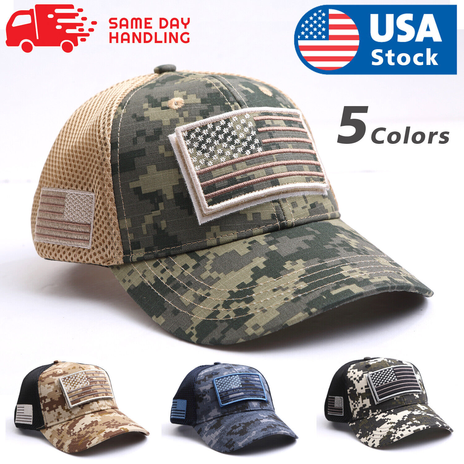 USA American Flag Hat Detachable Patch Micro Mesh Tactical Operator Military Cap Clothing, Shoes & Accessories
