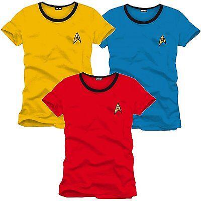 Star Trek Enterprise Crew Uniform T-Shirt Frauen Women Fasching (Womens Star Trek Kostüm)