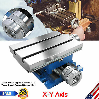 Compound Milling Machine Work Table 2 Cross Slide Bench Drill Vise Fixture