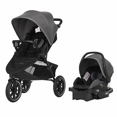 Evenflo Folio3 Stroller & Jog Travel System LiteMax 35 Infant Car Seat Crossover