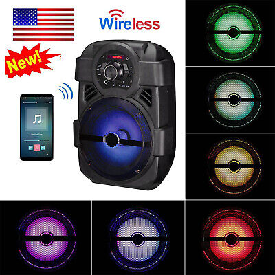 Portable PA Karaoke Wireless Speaker w/ 8