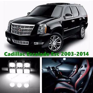 18pcs LED Xenon White Light Interior Package Kit for Cadillac Escalade ESV 2014