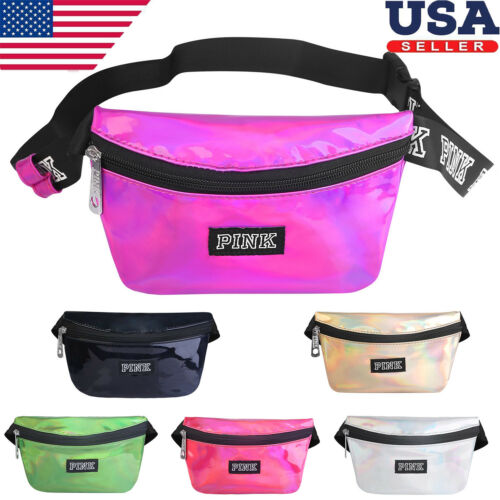 Womens Fanny Pack Shiny Leather Pouch Belt Bag Waist Phone P
