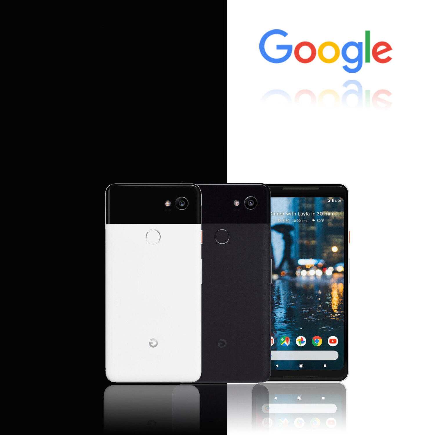 Google Pixel 2 XL - 64GB/128GB - Verizon GSM Unlocked Android 4G Smartphone