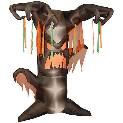 Gemmy 8' Animated Frightening Tree Halloween Airblown Inflatable Yard Decor SALE