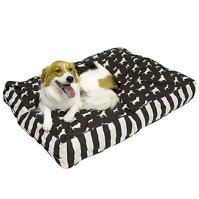 Happy Hounds Buster Small 24 by 36-Inch Dog Bed, Chocolate/Linen