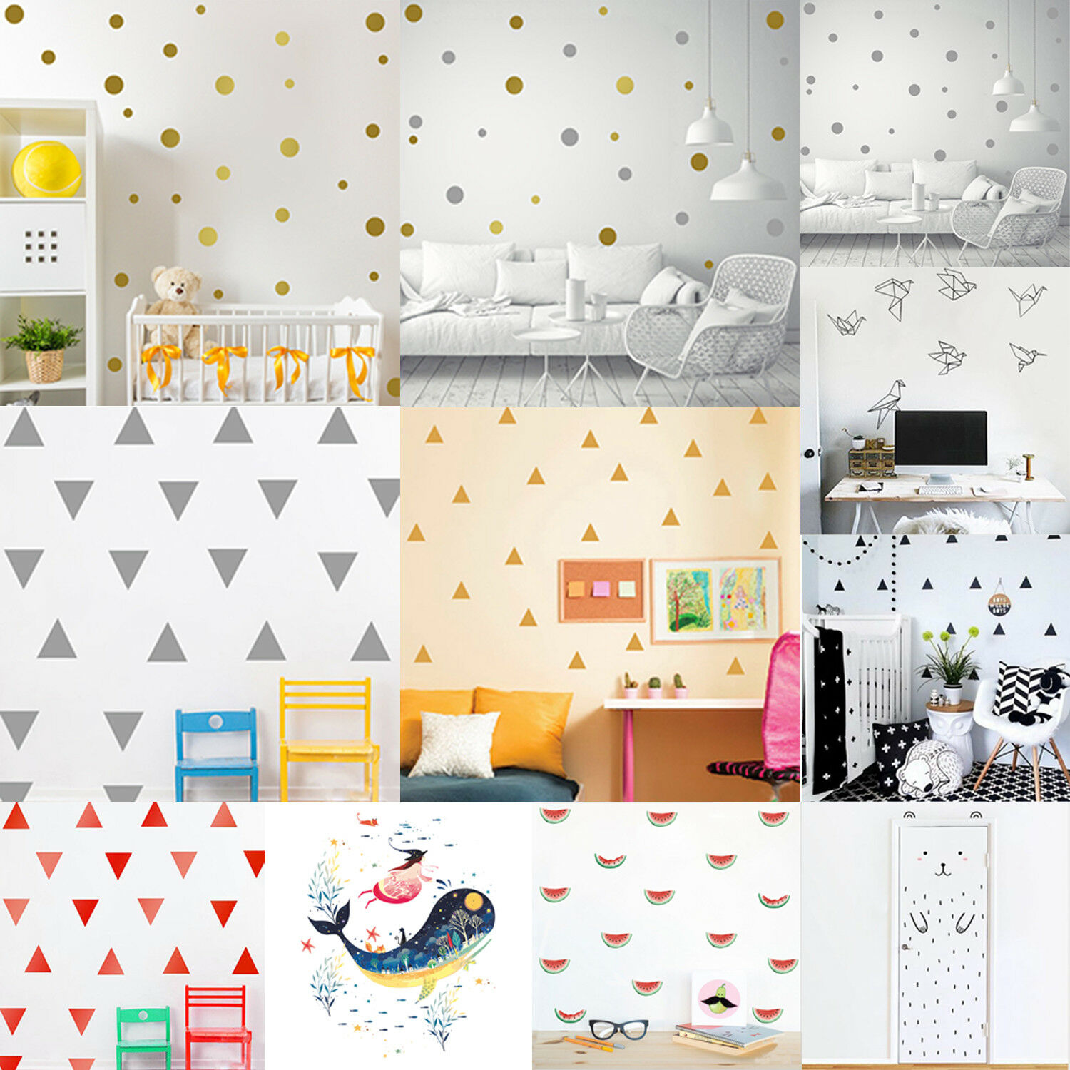 Home Decoration - Cute Mural Removable Wall Stickers Decals Kids Baby Nursery Room Home Decoration