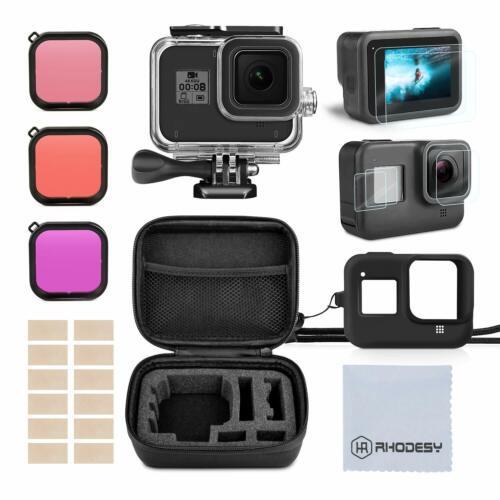 GoPro Hero 8 Black Accessory Kit / Filter Kit Including Waterproof Housing Case