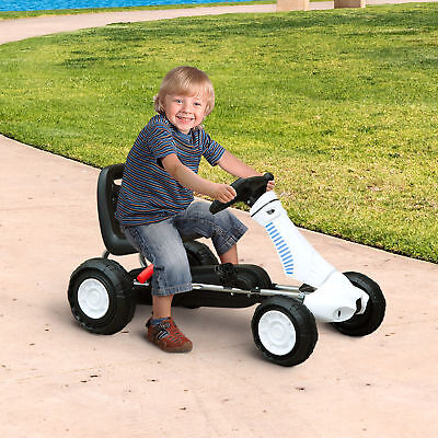 HOMCOM Pedal Go Kart Ride-on Car for Kids W/ Rubber Wheels Racing Toy