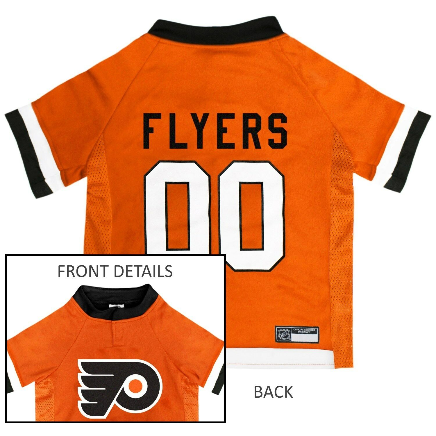 Philadelphia Flyers NHL Pets First Licensed Dog Pet Hockey Jersey Sizes  XS-XL e1a1ad400