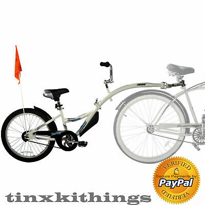 Tag Along Bicycle Trailer for Child Bike Ride Attachment Training Kid Tandemm +