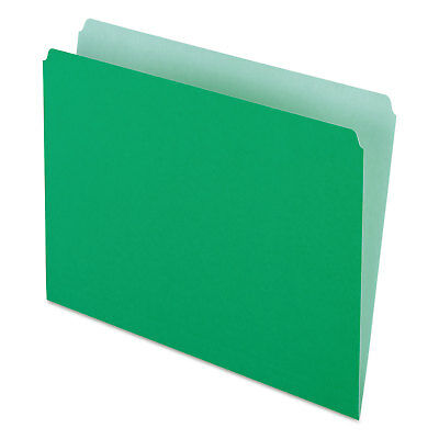 Pendaflex Colored File Folders Straight Cut Top Tab Letter Greenlight Green 100