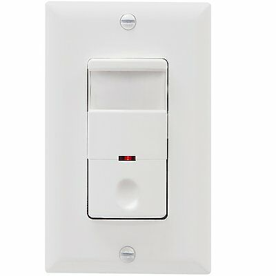 Occupancy Motion Sensor Light Switch PIR Detector TOPGREENER TDOS5 White