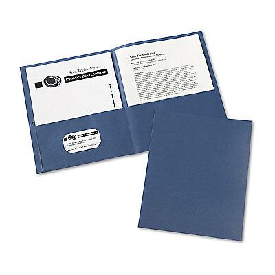 Avery Two-pocket Folder 40-sheet Capacity Dark Blue 25box 47985
