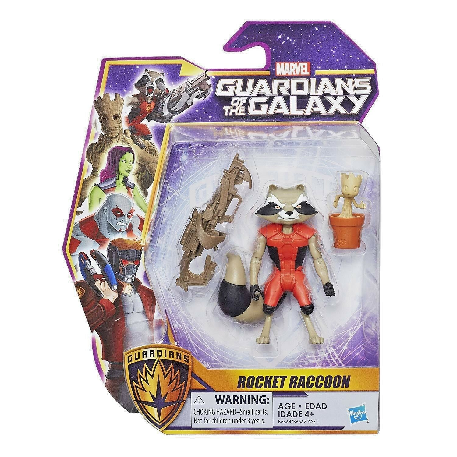 Marvel Guardians of the Galaxy Legends Series Rocket Raccoon 6-inch