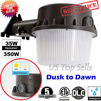 Outdoor LED Barn Light Lamp Yard Security Waterproof Dusk to Dawn Floodlight