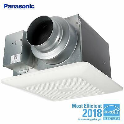Panasonic FV-0511VKS2 WhisperGreen Multi-Flow Bathroom Fan, White 50/80/110 CFM