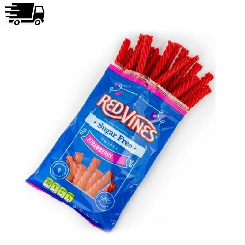 Red Vines Sugar Free Strawberry Twists, 5oz Bag
