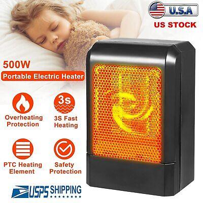 Μίνι κεραμικός ηλεκτρικός θερμοσίφωνας 500W Φορητός ανεμιστήρας θέρμανσης χώρου γραφείου Χώρος αθόρυβος