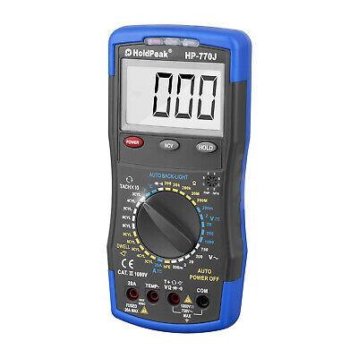 Digital Automotive Multimeter 770j Dcac Volt Dwell Tach Rmp Hfe Ohmmeter Meter