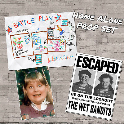 Home Alone Wet Bandits Wanted Sign Flyer Buzz's Girlfriend Photo Battle Plan - Buzz Home Alone