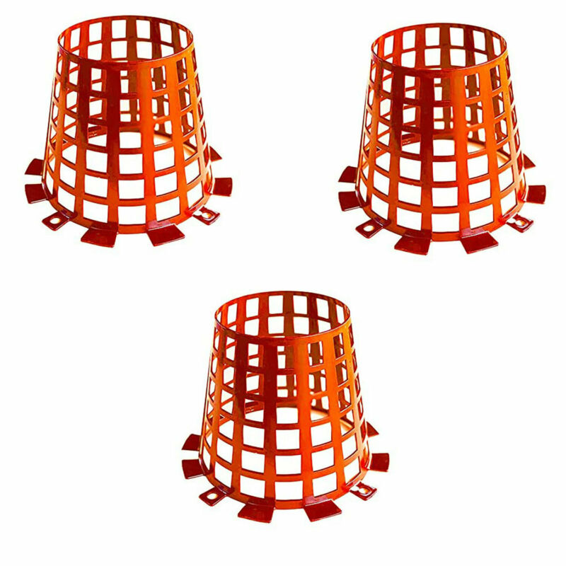 Plant Knight Tree and Plant Animal Prevention Protector Guard, 3 Pack (Orange)