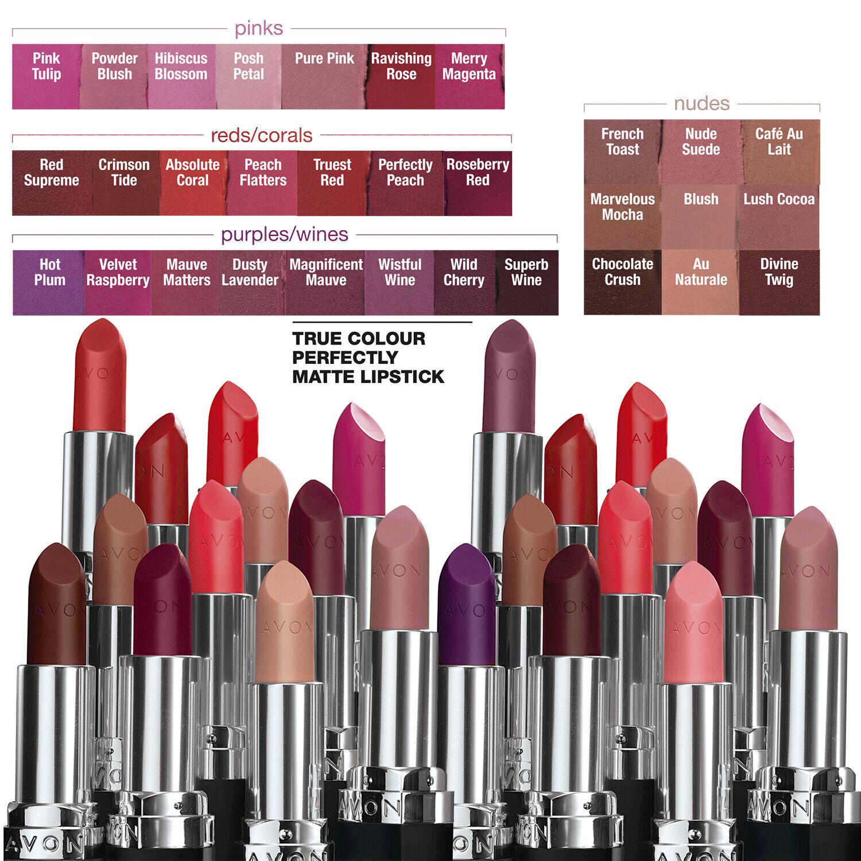 Avon True Colour Perfectly Matte Lipstick Various Shades 100 Matte Lipstick Ebay