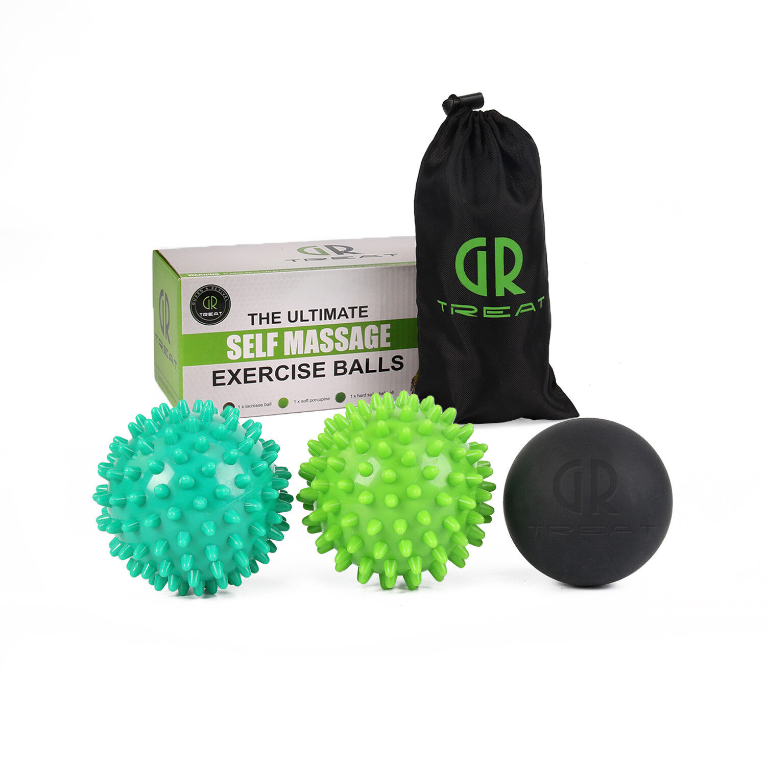 Relax Myofascial Trigger Point Mobility Massage Ball Peanut Lacrosse Ball GR
