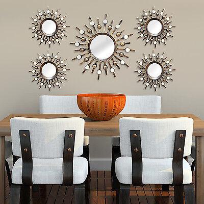 Stratton Home Decor Burst Wall Mirrors (Set of 5)