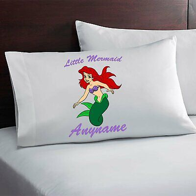 Little Mermaid Personalized Pillow Case Custom Made w. Your Name](Little Mermaid Custom)