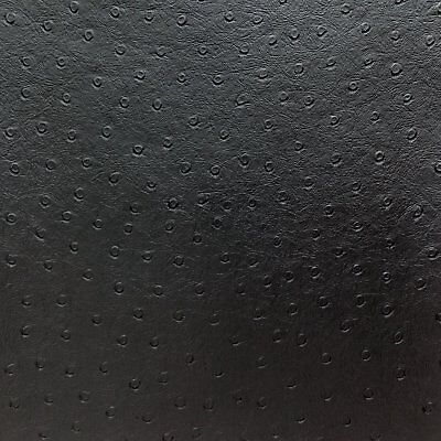 Matte Black Upholstery (Vinyl Upholstery leather Ostrich Black Matt Fake  54