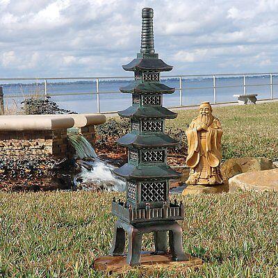 Outdoor Pagoda Statue Japanese Garden Nara Temple Asian Decor Design Lawn -