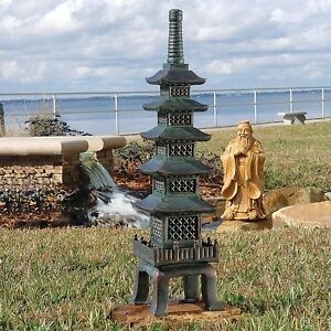 Charmant Outdoor Pagoda Statue Japanese Garden Nara Temple Asian Decor Design Lawn  Resin