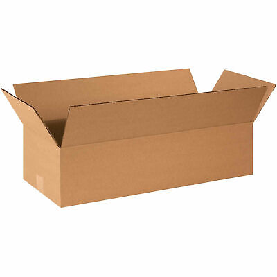 24 X 10 X 6 Flat Cardboard Corrugated Boxes 65 Lbs Capacity Ect-32 Lot Of