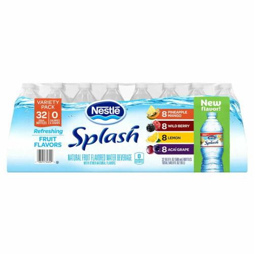 Nestle Splash Variety Pack (16.9oz / 32pk) Free Shipping New