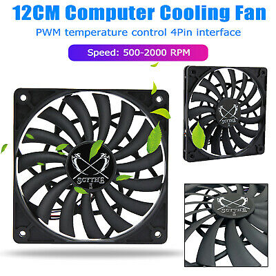 SCYTHE 12012 12cm PWM 4Pin Temperature Control PC Case Cooling Fan Heatsink