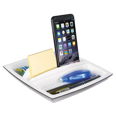 Kantek Desk Top Organizer And Tabletphone Holder Plastic 8 14 X 8 14 X 2 34