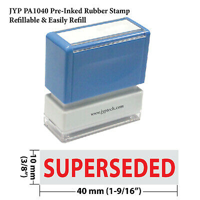 Superseded - Jyp Pa1040 Pre-inked Rubber Stamp Red Ink