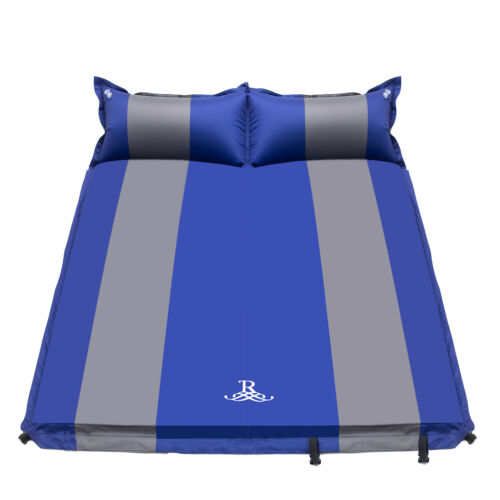 Double Self Inflating Sleeping Mattress Air Bed Camping Hiking Mat 5CM Thicken 5