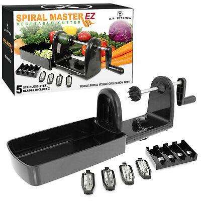 Kitchen Spiral Master EZ Vegetable Cutter, 5 Stainless Steel Slicer Blades Cut ()