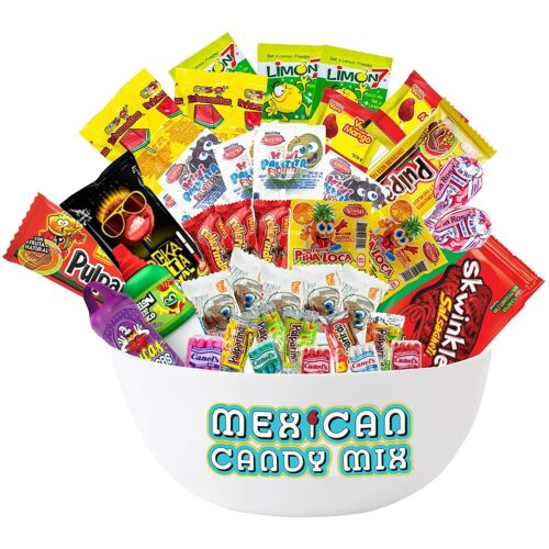 Mexican Candy Assortment Mix (40 Count) Variety of Spicy & Sweet Candies