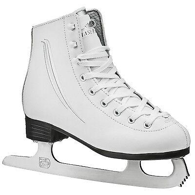 Lake Placid Cascade Girl's Figure Ice Skate, White, J10