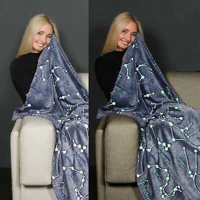 Kanguru Glow in The Dark Constellation Blanket, Gifts for Women Girls