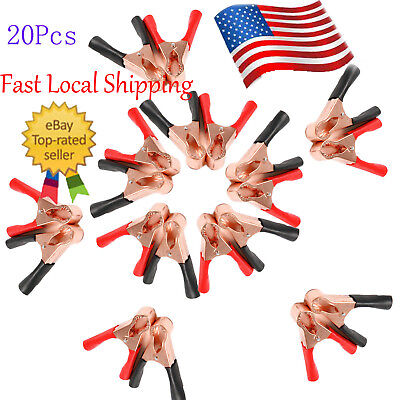 20 Redblack Insulating Plastic Boots Test Probe Alligator Clips Electrical Clip