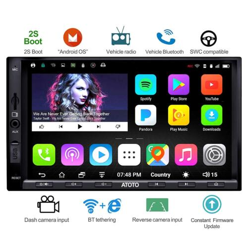 ATOTO A6 2DIN Android Car GPS RADIO 1G /16G -A6Y2710SB/Fast Boot /Dual Bluetooth