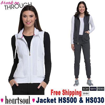 Heartsoul Scrubs Set Women's Hood Vest Jacket & Jogger Pant HS500/HS030 Hood Vest Set