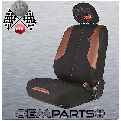 New Browning Arms Seat Cover Black Brown Buckmark fit Dodge Bucket Seat Low -