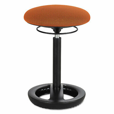 Safco Twixt Desk Height Ergonomic Stool 22 12 High Orange Fabric 3000or