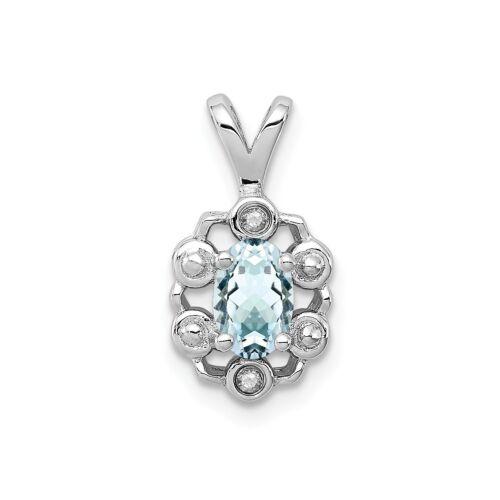2.68ct Gem Wt Sterling Silver Rhodium Plated Peridot /& Diamond Flower Pendant